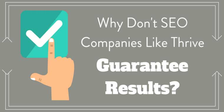Why don't SEO companies like EcommBrains guarantee results?
